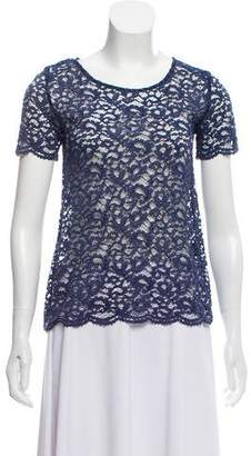 The Kooples Lace Short Sleeve Top