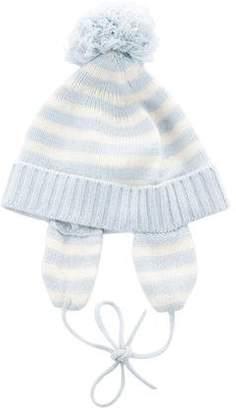 Baby CZ Boys' Striped Cashmere Beanie