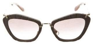 Miu Miu Noir Logo Sunglasses w/ Tags