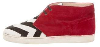 Christian Louboutin Ponyhair Chukka Sneakers