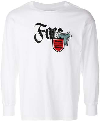 Facetasm logo print patch T-shirt