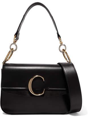 Chloé C Small Suede-trimmed Leather Shoulder Bag