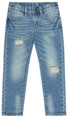 Stella McCartney Distressed cotton jeans