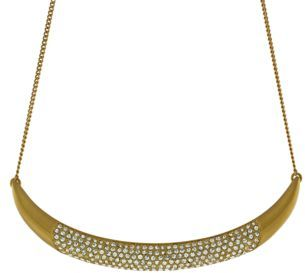 Vince Camuto Crystallized Gold-Tone Crescent Necklace