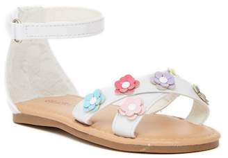 Laura Ashley Floral Ankle Strap Sandal (Toddler)