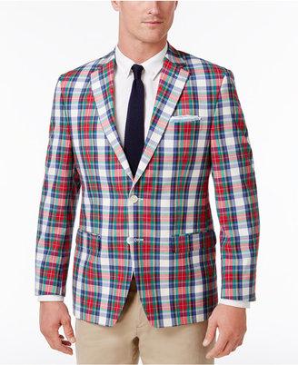 Lauren Ralph Lauren Men's Classic-Fit Multi-Color Madras Ultraflex Cotton Sport Coat $295 thestylecure.com