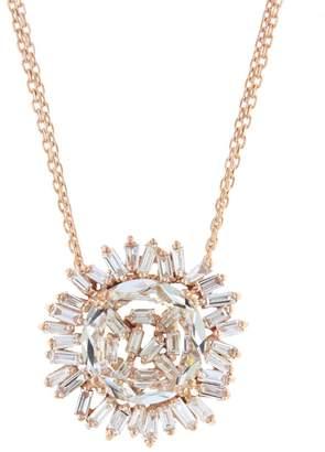 Suzanne Kalan Round Diamond Baguette Topaz Necklace - Rose Gold