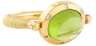 Temple St. Clair 18K Peridot & Diamond Swivel Ring