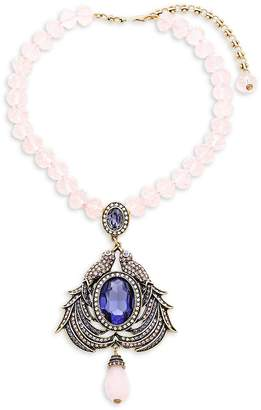 Heidi Daus Women's Duel Birds Crystal Necklace
