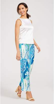 J.Mclaughlin Martine Silk Pants in Moroccan Paisley