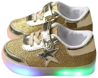 Hello Kitty Kaifei Girls Shoes Handwork Rhinestone Led Shoes Flashing Shoes