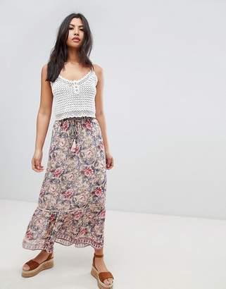 Raga Victoria Printed Maxi Skirt