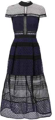 Self-Portrait Lace Paneled Midi Dress $615 thestylecure.com