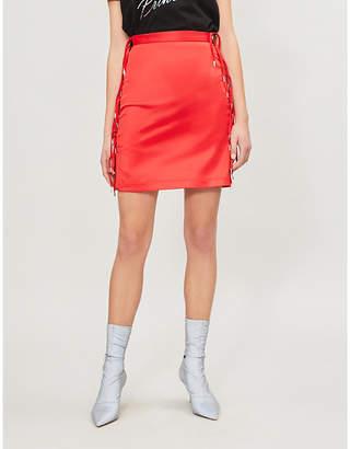HANGER Expando tie-side satin skirt