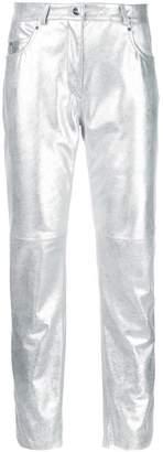 Barbara Bui (バルバラ ビュイ) - Barbara Bui metallic cropped trousers