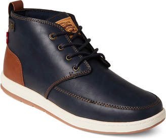 Levi's Navy & Tan Atwater Burnished Chukka Sneakers