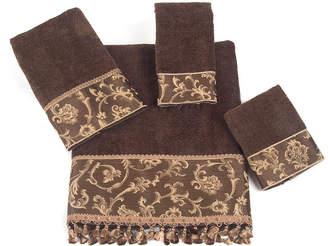 Avanti Damask Fringe Jacquard Bath Towel Bedding