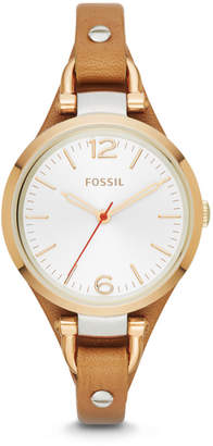Fossil Georgia Tan Leather Watch