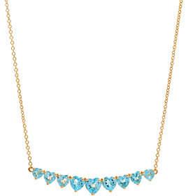 "QVC Heart Cut Semi-Precious Gemstone 20"" Necklace14K, 1.30 cttw"