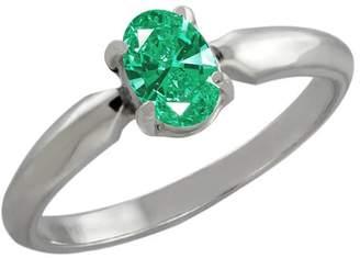 Swarovski Gem Stone King 0.43 Ct 925 Sterling Silver Ring Made With Zirconia