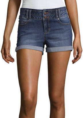 Blue Spice 2 1/2 High Rise Denim Shorts-Juniors