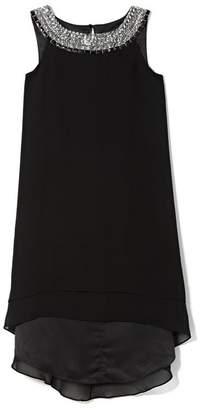 Vince Camuto Jeweled-neckline Dress