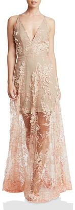 Dress the Population Sidney Floral Appliqué Gown $309 thestylecure.com