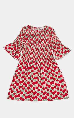 Stella McCartney Kids' Cherry-Print Smocked Dress - Pink