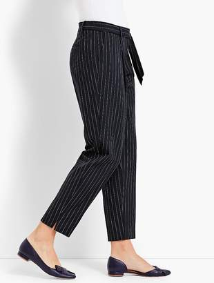 Talbots Boardwalk Stripe High-Waist Slim Ankle Pant
