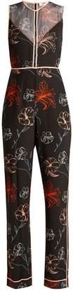 Diane von Furstenberg Fenelon-print silk jumpsuit