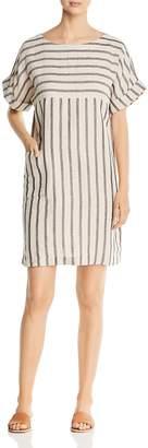 Eileen Fisher Striped Linen & Organic Cotton Shift Dress