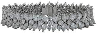Tiffany & Co. Platinum & Diamond Cluster Bracelet