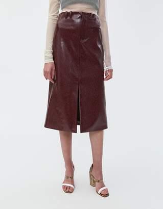 d996ee1d8f Nomia Snake-Embossed Slit Front Skirt