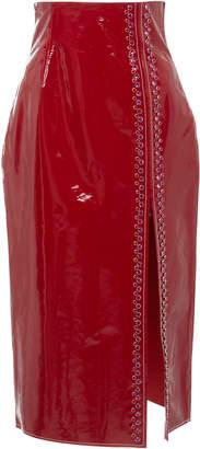 16Arlington Patent Leather Pencil Skirt