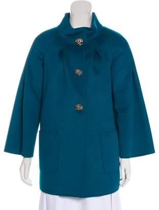 St. John Couture Wool-Blend Short Coat wool Couture Wool-Blend Short Coat