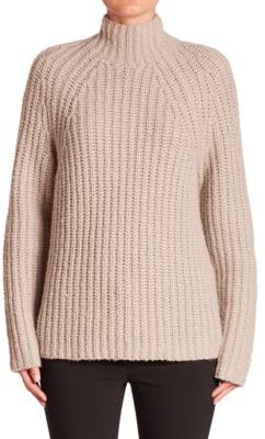 Theory Rifonia Mockneck Wool, Silk & Cashmere Sweater $495 thestylecure.com