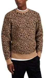 Ovadia & Sons Men's Leopard-Print Wool-Blend Sweater - Black