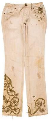 Ralph Lauren Embroidered Mid-Rise Jeans