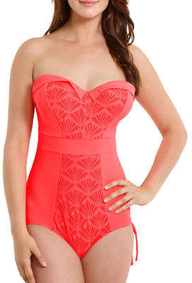 Curvy Kate Womens Siren Underwired Bandeau Swimsuit