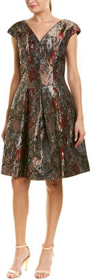 Carmen Marc Valvo A-Line Dress