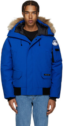 Canada Goose Blue Down PBI Chilliwack Jacket $800 thestylecure.com
