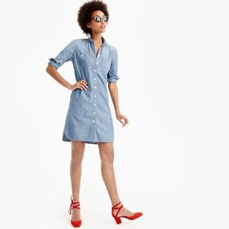 Petite long-sleeve chambray shirtdress $98 thestylecure.com