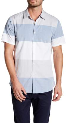 Micros Short Sleeve Woven Striped Shirt