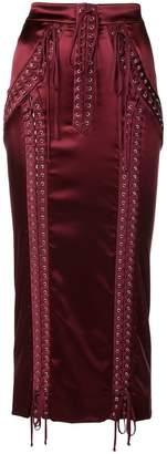 Dolce & Gabbana F4BCNTFURAD DARK RED Acetate/Nylon/Silk/Spandex/Elastane
