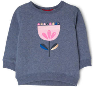 Sprout NEW Girls Crew Neck Sweat Top Blue Marle