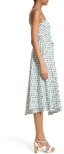Women's Milly Bambino Palm Print Midi Dress 2
