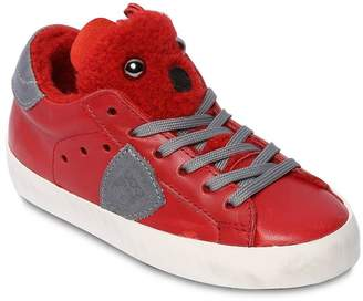Philippe Model Bear Leather Sneakers