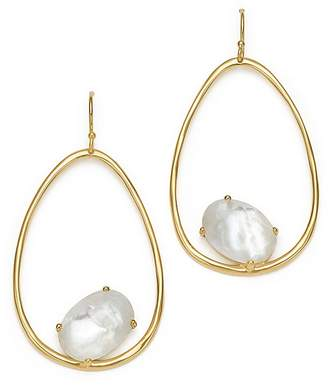 Ippolita 18K Yellow Gold Rock Candy® Mother-of-Pearl and Clear Quartz Doublet Drop Earrings