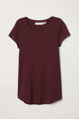 H&M Short-sleeved Jersey Top - Red