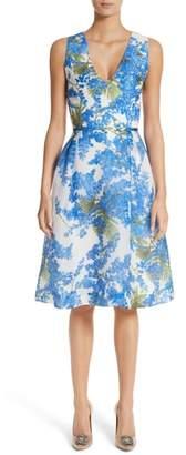 Carolina Herrera Floral Fit & Flare Dress